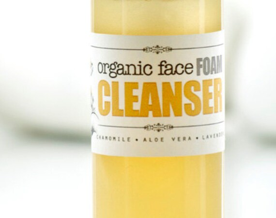 FACE FOAM CLEANSER • Organic Facial Foam Wash for sensitive skin.