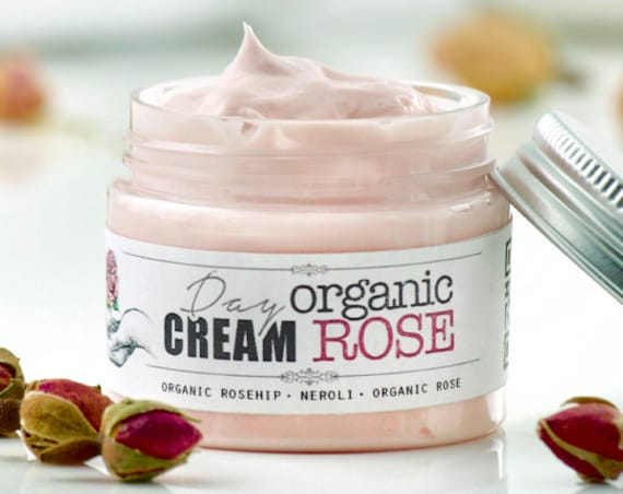 ORGANIC ROSE Day Facial Cream • Moisturizing face cream with organic Rosehip • Elixirium Organic Skincare