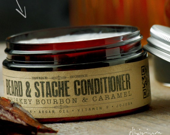 BEARD CONDITIONER - Whiskey Bourbon Caramel~organic beard conditioner~beard care~mens care~facial hair beard softener~for him