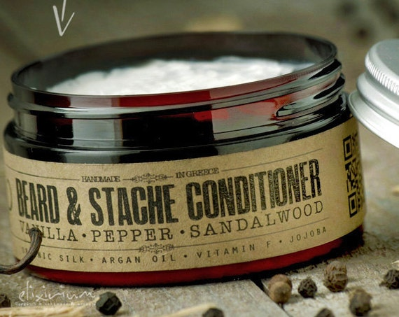 BEARD CONDITIONER - Vanilla Pepper Sandalwood~organic beard conditioner~beard care~mens care~facial hair beard softener~for him