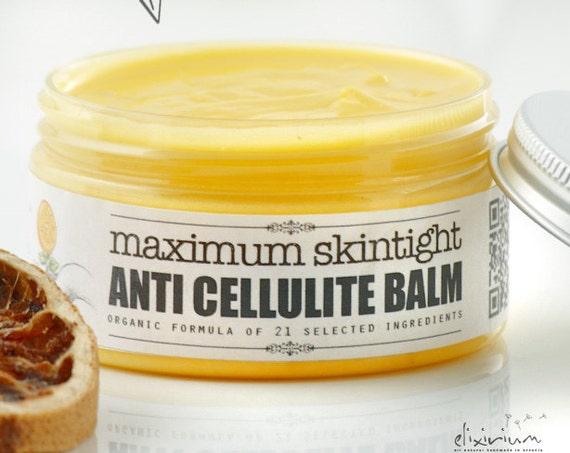 ANTICELLULITE BALM • Organic skincare, Skin Tight, Cellulite Fighting, Night Balm by Elixirium