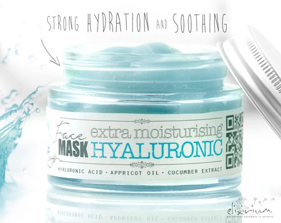 HYALURONIC FACE MASK extra moisturising • Organic Skincare Facial Mask with Aloe, Appricot and cucumber by Elixirium Organic Facial Care