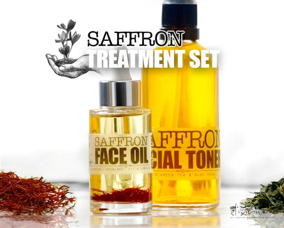 SAFFRON Treatment Set • Organic Total Skin Treatment for age fighting. Organic Facial Care, Organic skincare by  Elixirium