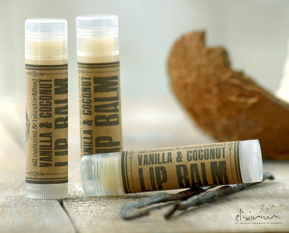 Vanilla Coconut LIP BALM ~ Organic Lip Balm ~ Lip butter~Vanilla Lip Balm~Coconut Lip Balm~organic skin care~lip treatment~lip moisturizing