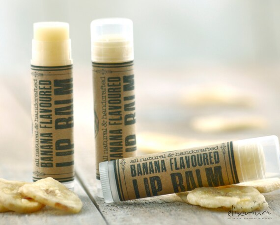 Banana LIP BALM ~Banana Lip butter~Organic Skin Care~bath and beauty~hand poured lip balm~natural lip balm~rustic lip balm~Lip care