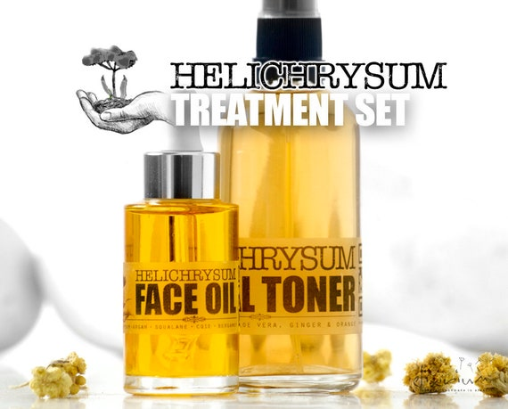 HELICHRYSUM Treatment Set • Organic Total Skin Treatment for facial skin regeneration. Organic Facial Care, Organic skincare by  Elixirium