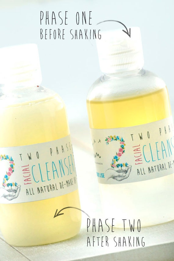 Two Phases FACIAL CLEANSER • Organic Bi Phase Facial Cleanser lotion with Orange Blossom water and citrus and lavender essential oils.