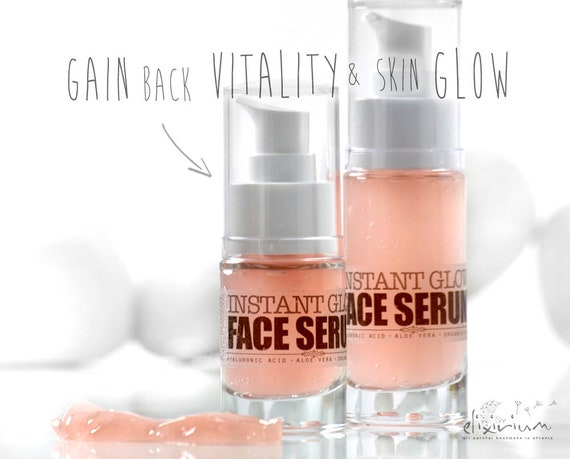 INSTANT GLOW Face Serum • with Liquid Silk, Aloe Vera & Hyaluronic acid. Perfect for glowing and radiant facial skin.