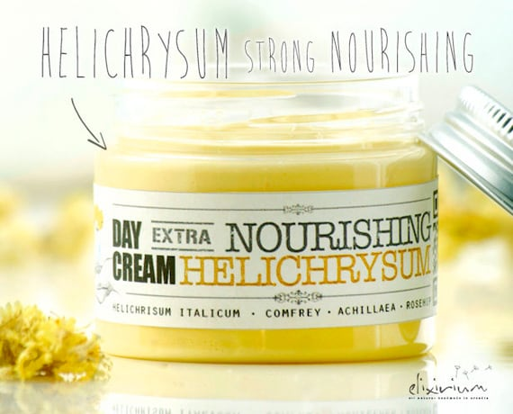 HELICHRISUM Extra NOURISHING Organic Day Facial Cream • Strong hydrating and nourishing power of Helichrysum • Elixirium Organic Scincare