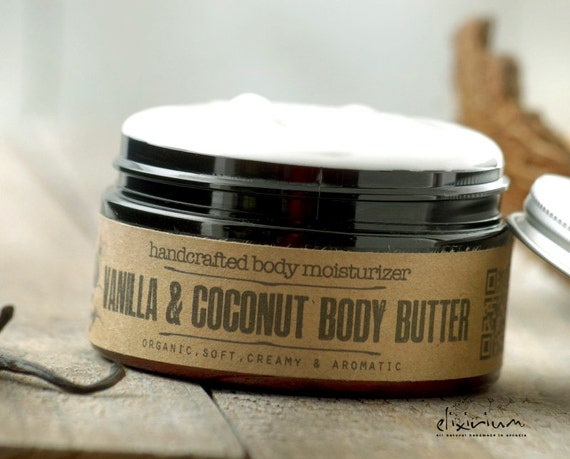 Vanilla Coconut BODY BUTTER • Organic body moisturizer