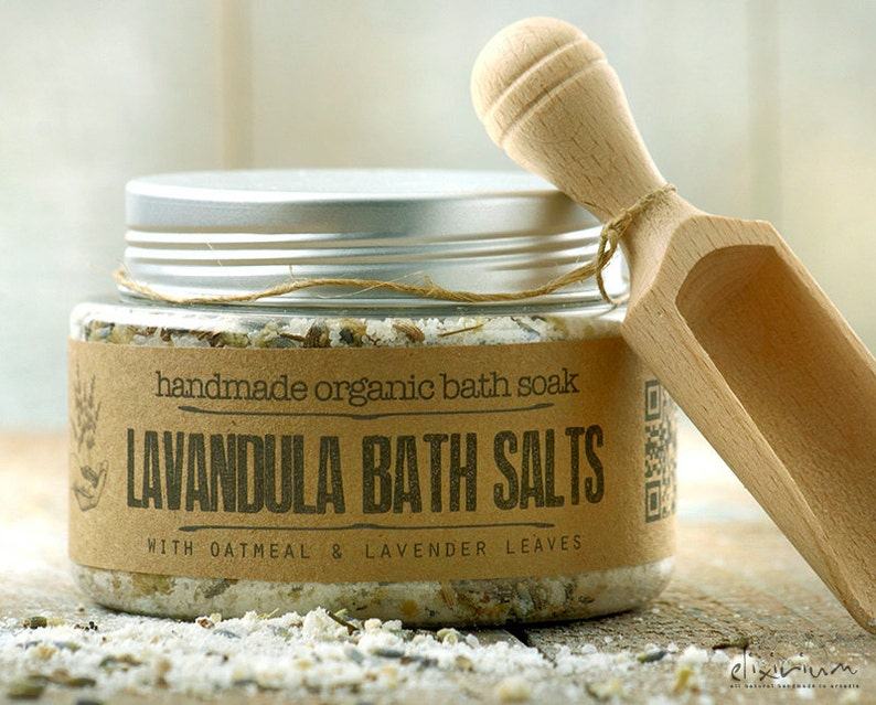 Lavender BATH SOAK with oatmeal and lavender flowers bath & image 0