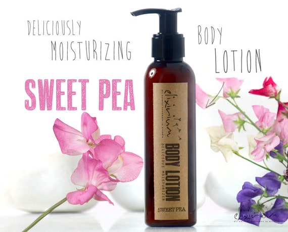 BODY LOTION Sweet Pea • Body lotion moisturizer deliciously scented