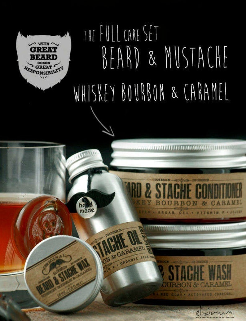 BEARD KIT  Organic Beard Care Set for men grooming  Beard image 0