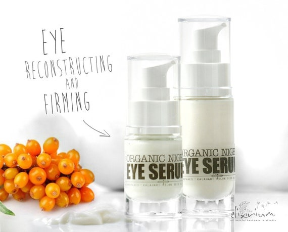 ORGANIC EYE SERUM • Powerful formula with Hippophae and Kalahari Melon Oil. Strong anti aging and fine lines fighting, eyes firming serum.