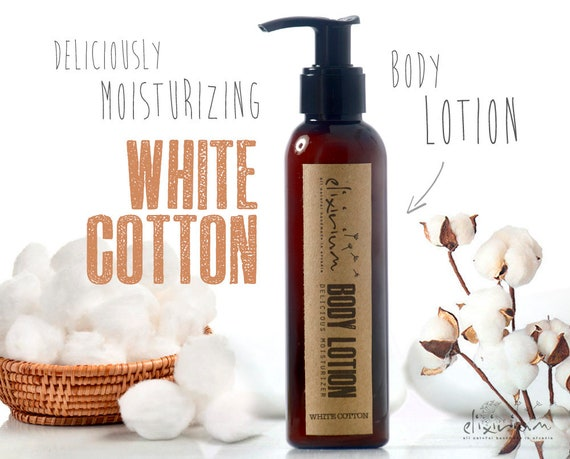 BODY LOTION White Cotton • Body lotion moisturizer deliciously scented