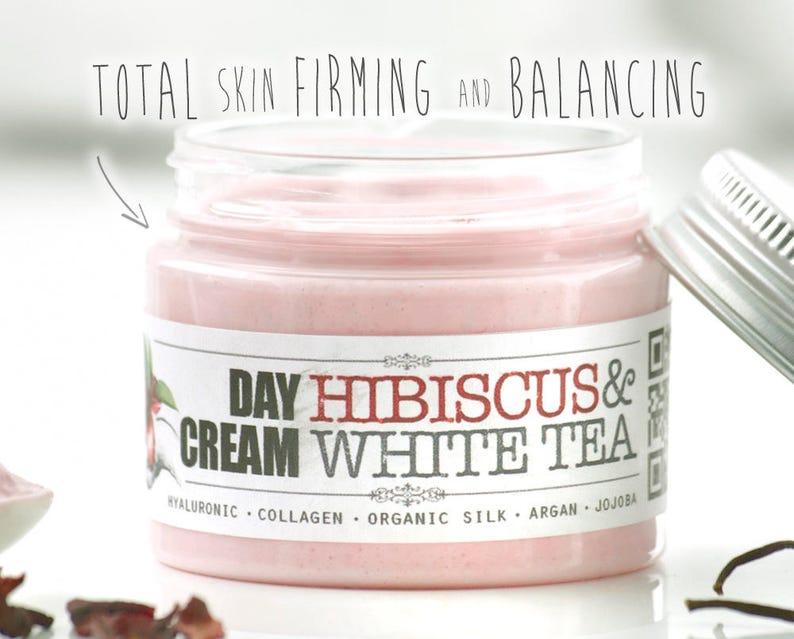 Face Cream HIBISCUS & WHITE TEA  Firming Balancing cream image 0