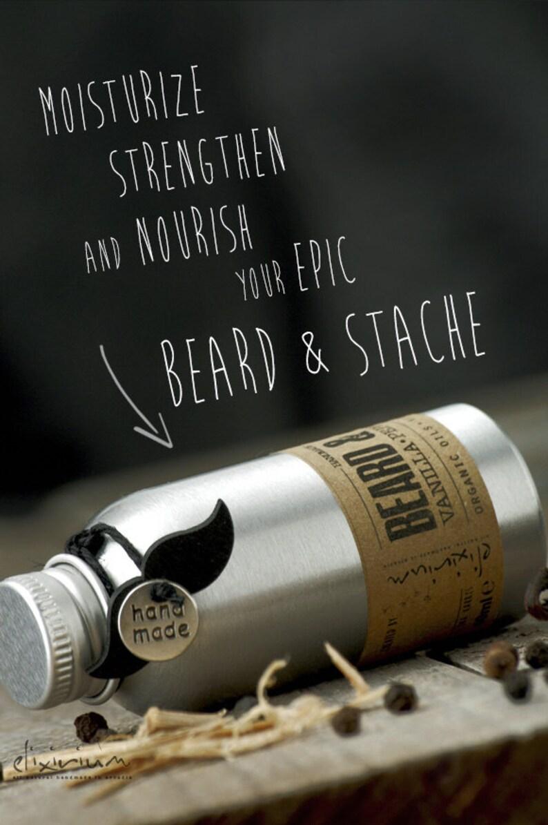 BEARD OIL Vanilla Pepper SandalwoodOrganic Beard oilMustache image 0