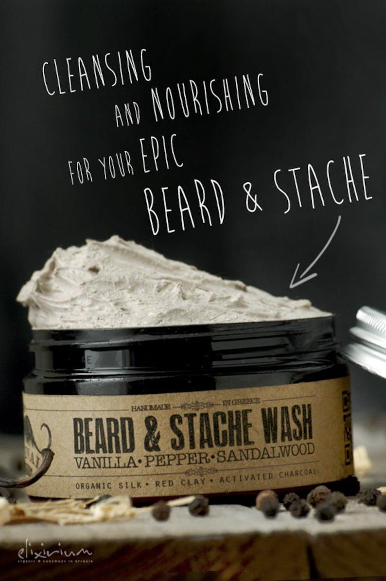 BEARD WASH  Vanilla Pepper Sandalwoodorganic beard image 0
