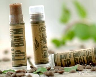 Mint Chocolate LIP BALM ~Mint Chocolate Lip butter~Organic Skin Care~bath and beauty~hand poured lip balm~natural lip balm~rustic lip balm