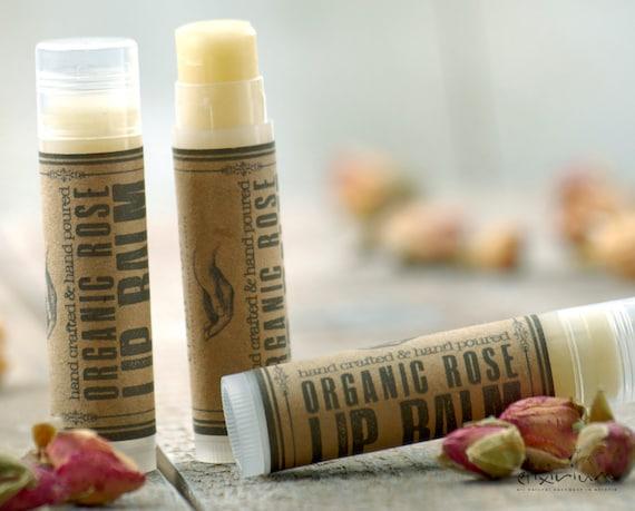 Organic Rose LIP BALM~Organic Lip Balm~Rose Lip butter~All Natural Rose Lip Balm~organic lip care~lip moisturizing