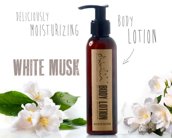 BODY LOTION White Musk • Body lotion moisturizer deliciously scented