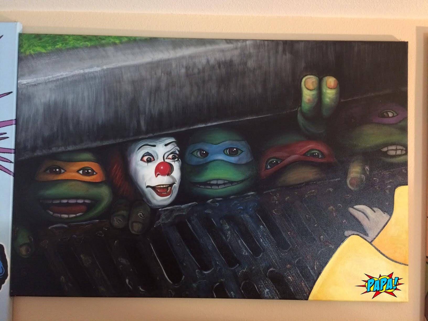 Pennywise Clown Stephen King\'s es mit Teenage Mutant Ninja