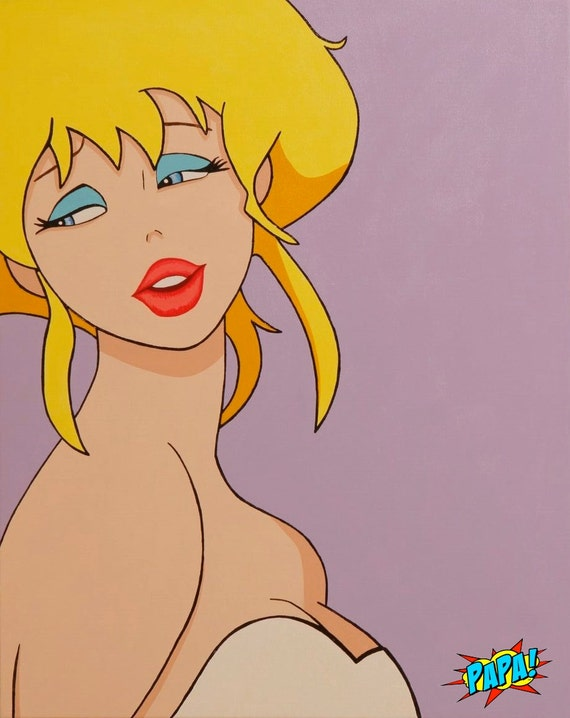 Holli Would Painting On Canvas 30x24 Original Art By Etsy Of regular toon animation and realistic looking horrors. holli would painting on canvas 30x24 original art by papa