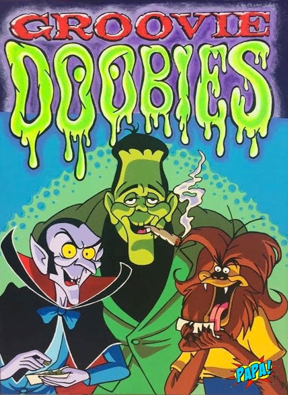 Groovie Goolies Doobies Retro Cartoon From 80 S Smoking Etsy