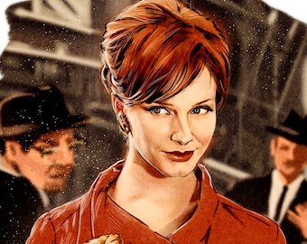 Joan (Christina Hendricks), Mad Men poster.