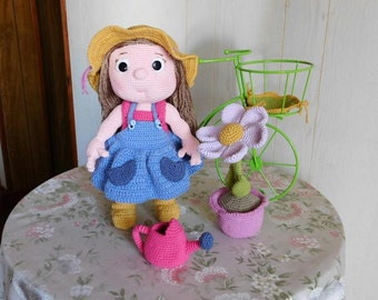 Crochet doll Bel, ideal gift for any age.
