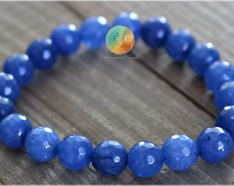 """8MM MELODY BLUE AGATE GEMSTONE BLUE SWIRLS FACETED ROUND 8MM LOOSE BEADS 15/"""""""