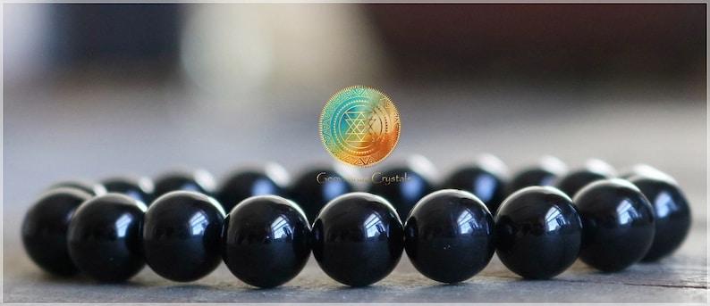 Stretch Bracelet Black Tourmaline stone Black Tourmaline bracelet High Quality Tourmaline 8mm Genuine Natural A Grade Black Tourmaline