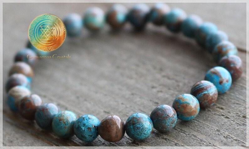 Stretch Bracelet,Blue Bracelet Yogi bracelet,Anxiety /& Stress Relief Blue Crazy Lace Agate 6mm Genuine Natural A grade blue agate bracelet