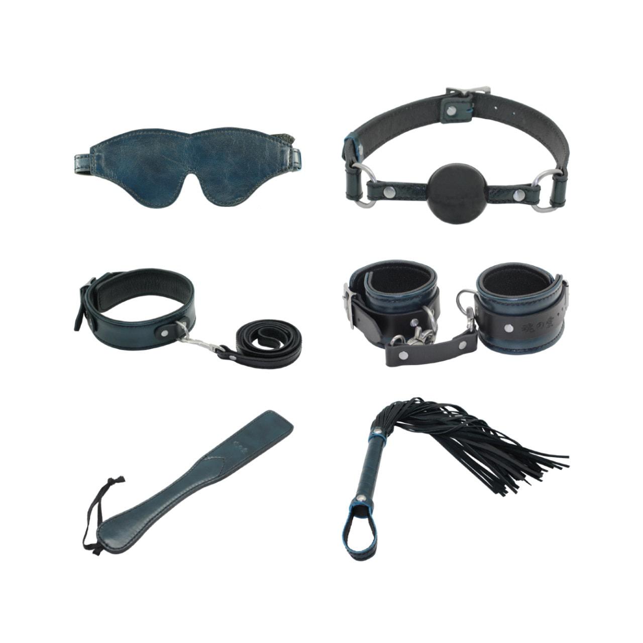 de60e86b2 BDSM Set Collar w  Leash Handcuffs Silicone Ball Gag