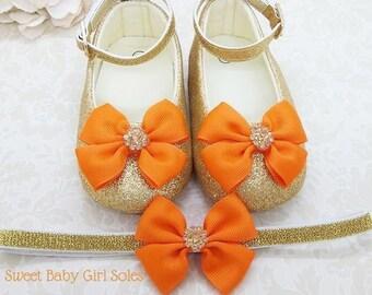ddfcc515dc40d Baby pumpkin shoes | Etsy