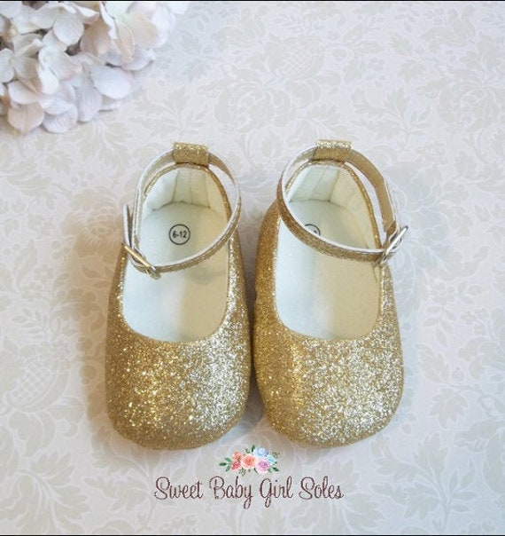 Gold Baby Shoes Glitter Baby Shoes Gold