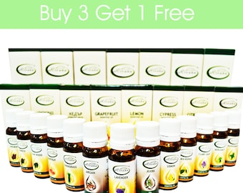Natural Essential Oil BUY 3 GET 1 FREE Pure Premium Quality 10ml Aromatherapy Therapeutic Grade Aroma Essential oils