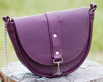 f47d206e07b Purple crossbody bag Mini crossbody purse Leather cross-body handbag Violet purse  women Girls crossbody violet Purple leather crossbody