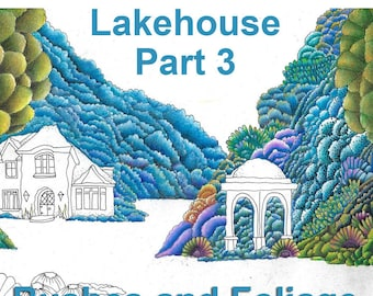 The Lakehouse Coloring Page For Adults PART THREE Lisa Brando Extreme Coloring Coloring Trees Tutorial