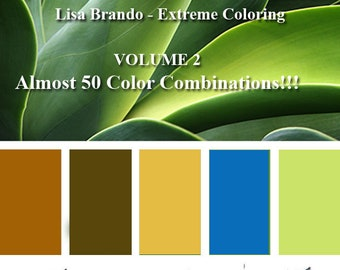 Leaf Color Combinations For Adult Coloring Books Prismacolor Lisa Brando Extreme Guide How To Leaves Tutorial Download