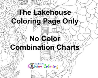 The Lakehouse Coloring Page