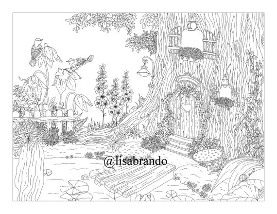 Forest #31 (Nature) – Printable coloring pages | 440x570