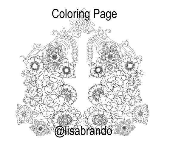 - Flower Tattoo Design Coloring Page For Adults Instant Etsy