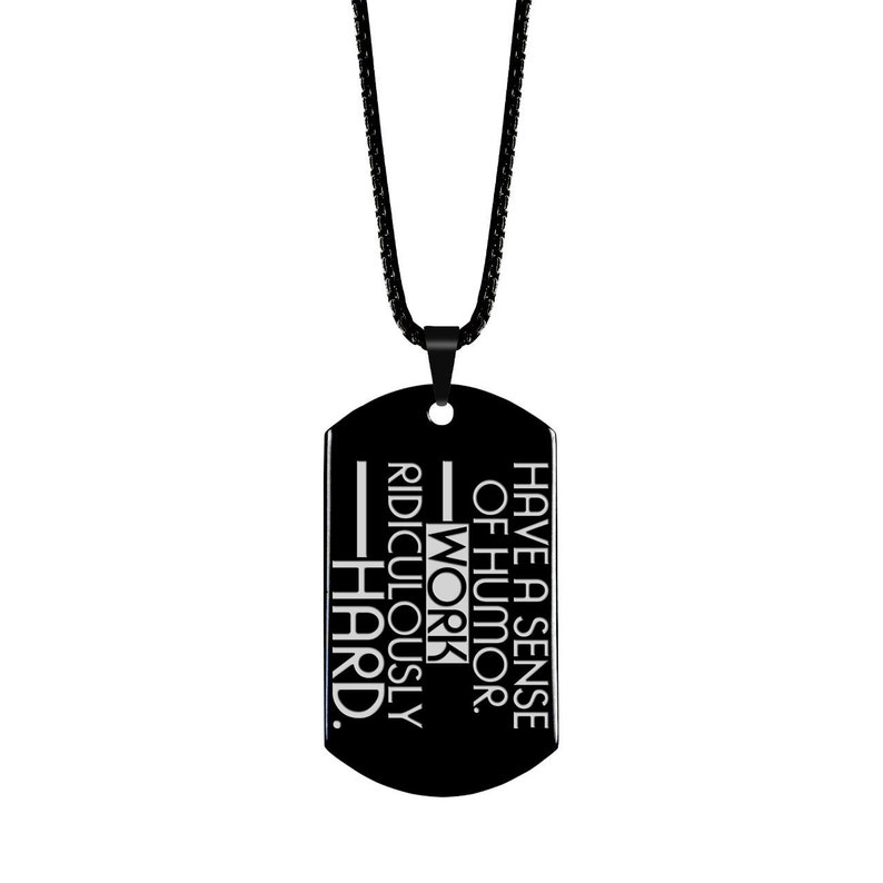 ffef7c1c8 Inspiration Quote Jewelry Motivational Quote Dog Tag   Etsy