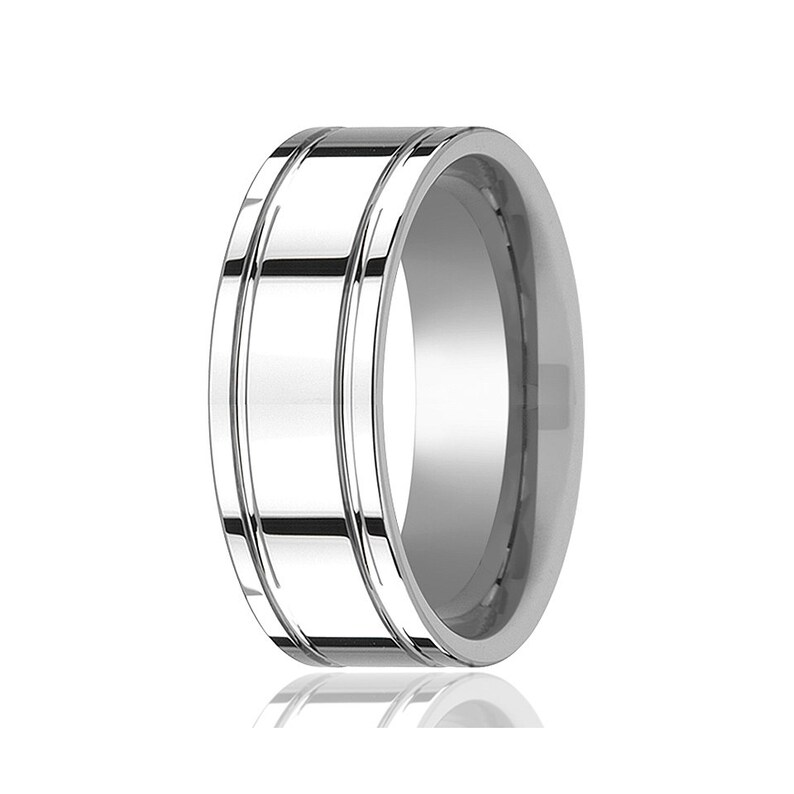 Tungsten Wedding Band,Silver Tungsten Ring,Men /& Women,Tungsten Carbide Ring,Anniversary Band,Polished Design,Couples Tungsten Promise Ring