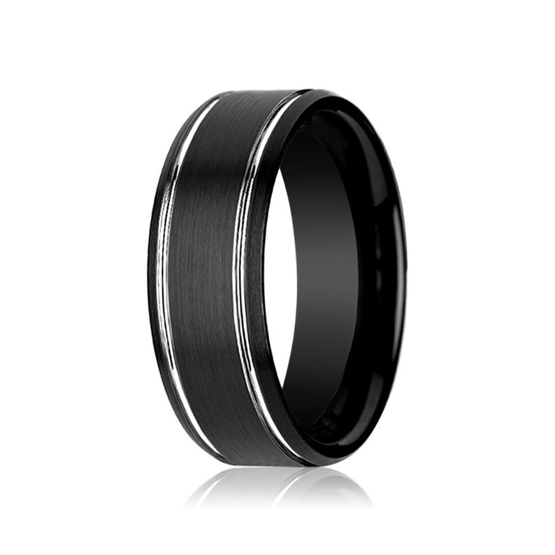 Rings for Women Mens Wedding Band Wedding Bands Promise Ring Rings for Men Wedding Ring Black Tungsten Engagement Ring