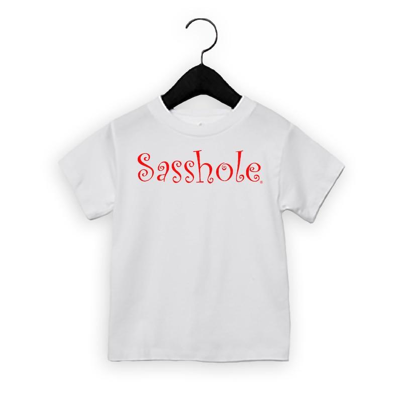 SALE  SASSHOLE® Toddler Short Sleeve Tee Red