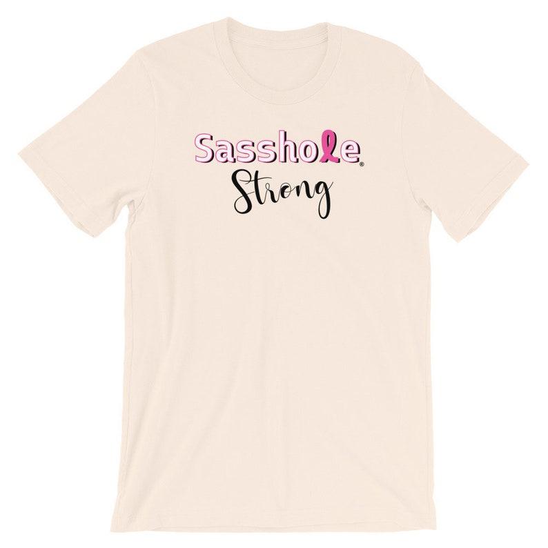 Sasshole® Strong Women's Short-Sleeve T-Shirt S-4XL Soft Cream
