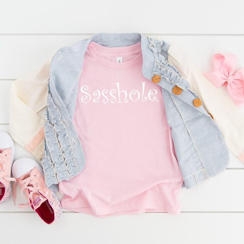 Sasshole® Toddler Tshirt 2T-5T White