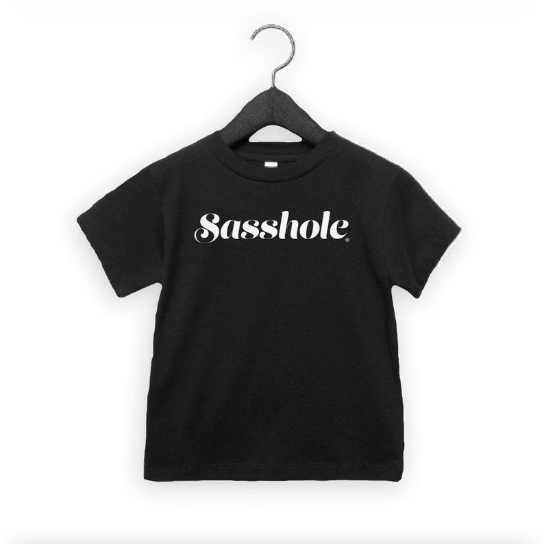 SALE  SASSHOLE® Toddler Short Sleeve Tee White